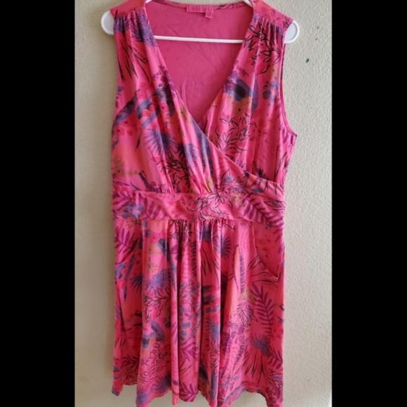fresh produce Dresses & Skirts - Fresh Produce XL Pink Floral Sleeveless Boho Dress